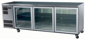 Skope CL600 Counterline Three Glass Door Under Counter Fridge