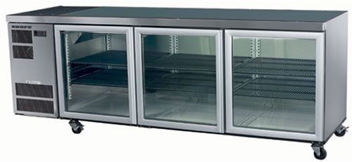 Skope CL600 Counterline Three Glass Door Under Counter Fridge
