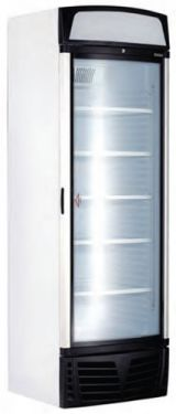 Bromic Single Door Upright Freezer With Curved Glass Door