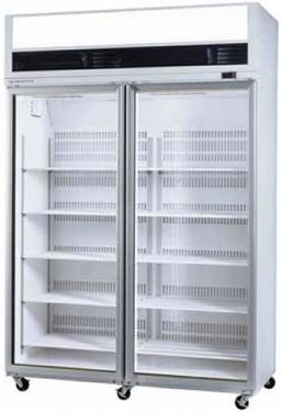Skope Large Double Glass Door Vertical Display Freezer