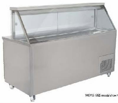 Woodson 1 Door Sandwich Preparation Fridge Straight Glass
